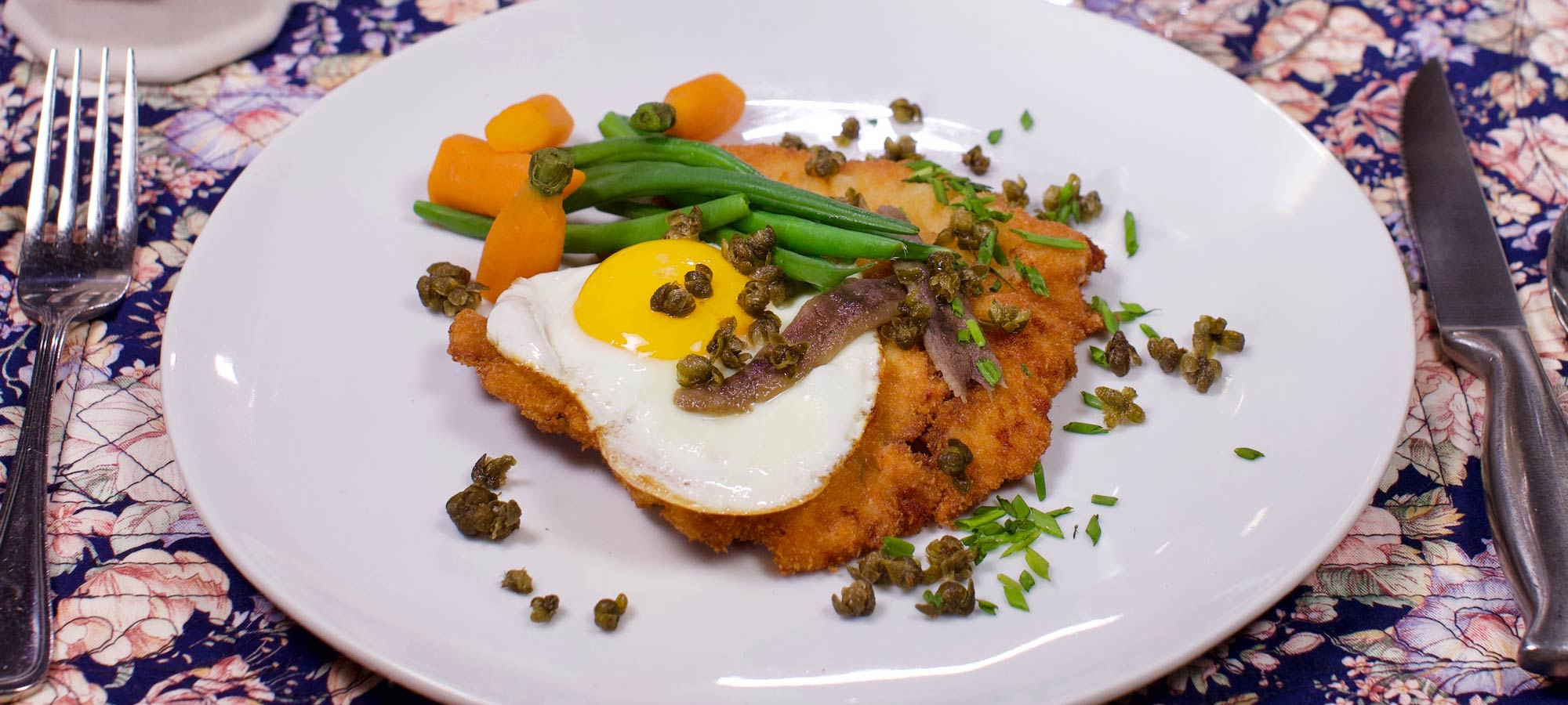 Veal Schnitzel at Countryman's Pleasure Restaurant in Rutland, VT